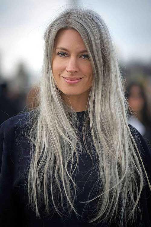 Long Hair Styles For Older Women