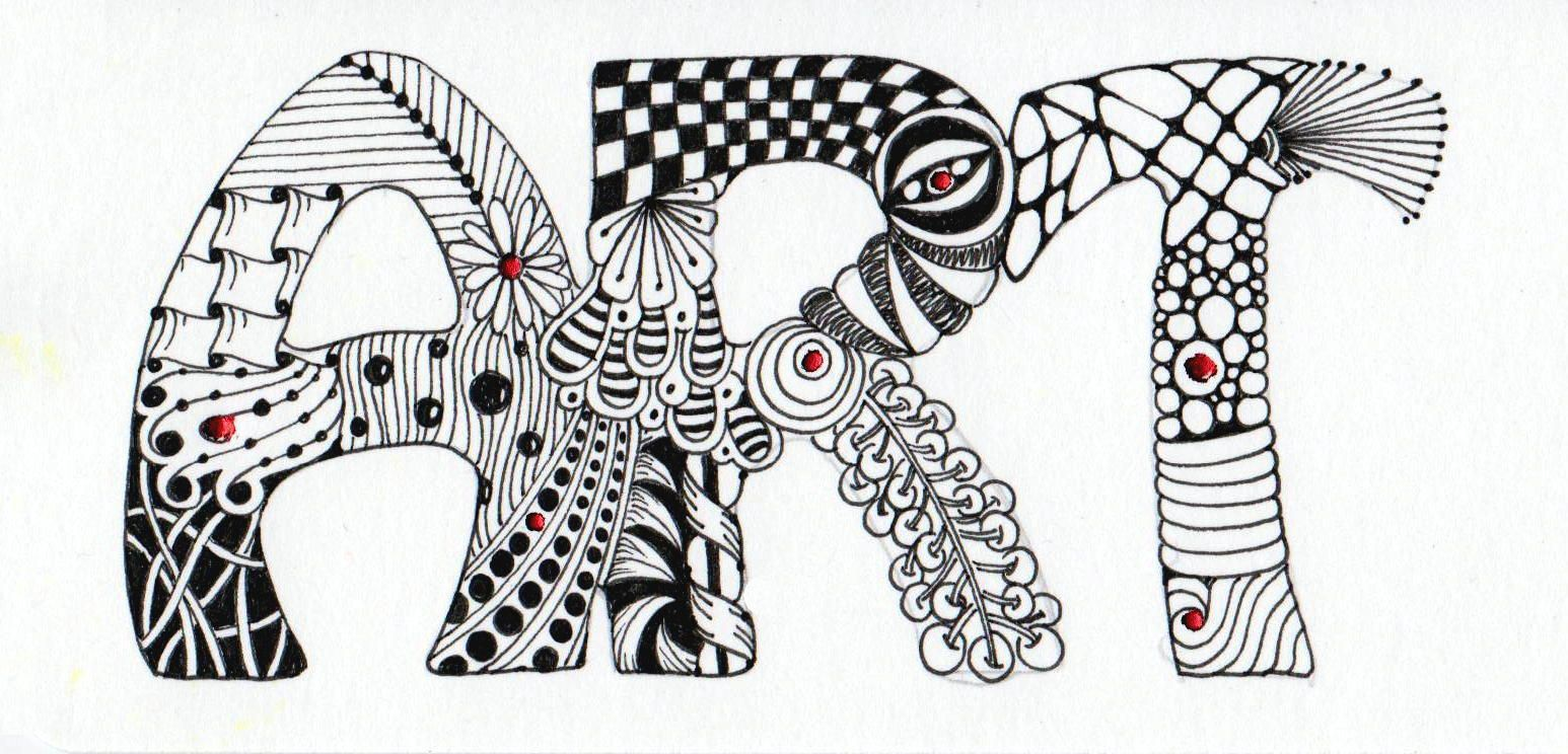 Simple Zentangle Patterns Letters | Just a little zentangle art as a