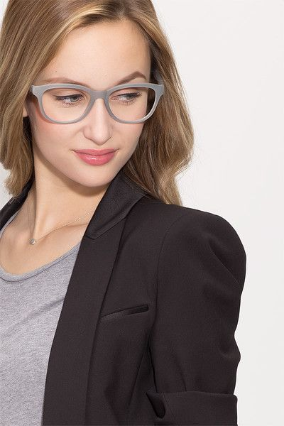 e6955bc9f4 Caroline Matte Gray Plastic Eyeglasses from EyeBuyDirect. Come and discover  these quality glasses at an affordable price. Find your style now with this  ...