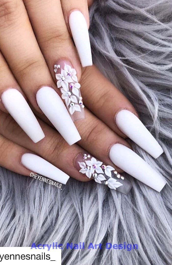 2019 Flashy Acrylic Nail Designs in Coffin Shape\u2026 \u2013 acrylic