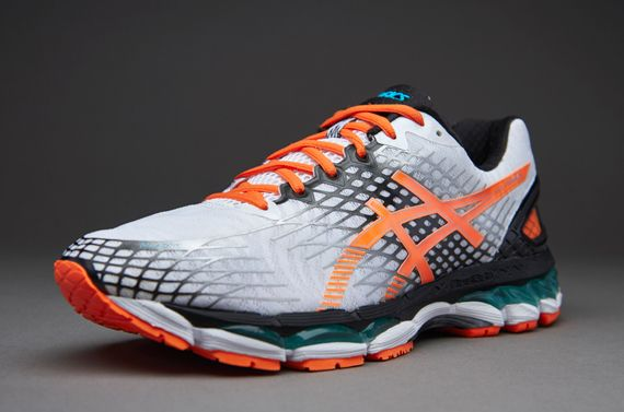 Asics Gel Nimbus 17 - White/Flash Orange/Onyx