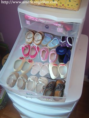 Great idea for babby or toddler things....Plastic drawers on wheels...maybe for inside the closet