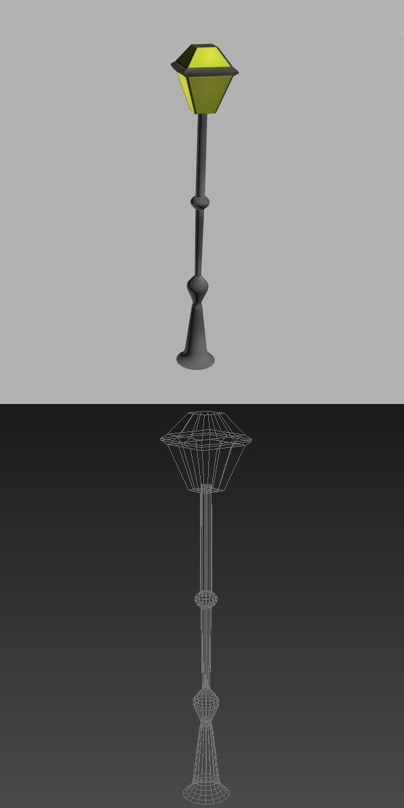 Street Lamppost Lamp Post House 3d Model Street Light