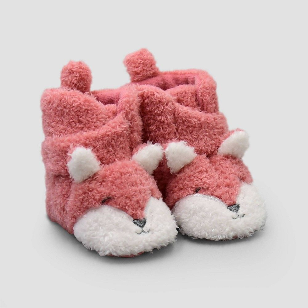 Baby Mocassins Baby Girl Blush Animal Booties Baby Cute Shoes Newborn Soft Booties