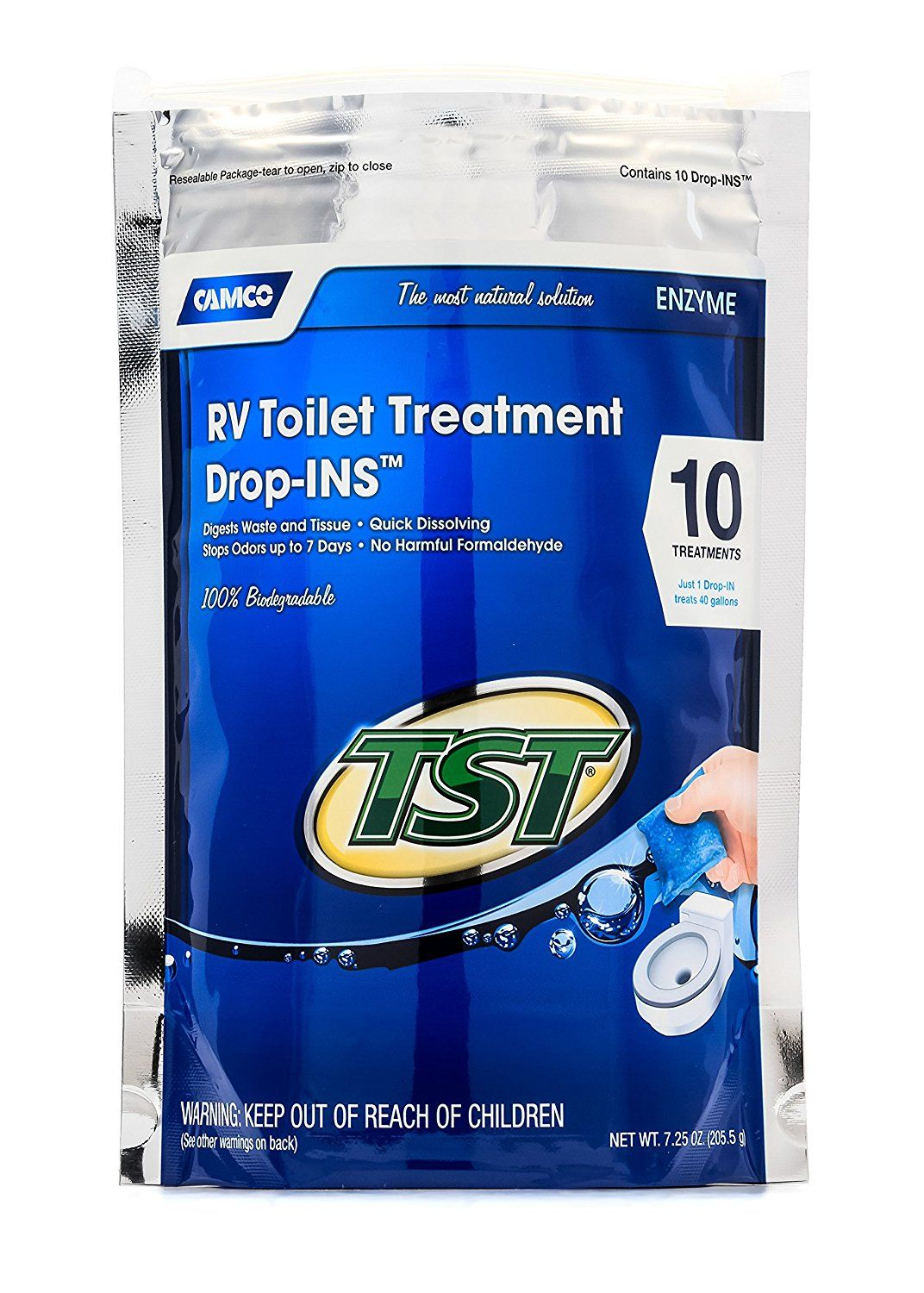 Camco 41529 Tst Blue Enzyme Toilet Chemical Drop In 10 Pack Visit The Image Link More Details Camco Septic Tank Enzymes