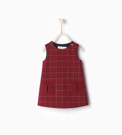 62f798c48fc Image 1 of Check pinafore dress from Zara | لباس کودک | Check ...