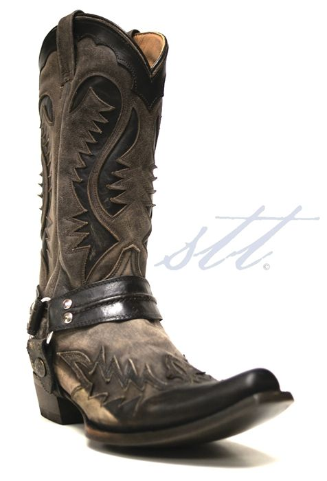 Man boots  Stetson Mens Tan Distressed Outlaw