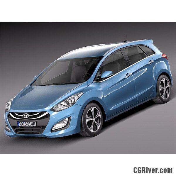 Hyundai I30 Wagon 2013 3d Model Pretty Cars Model Vehicles