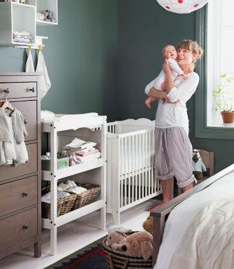 Schlafzimmer landhausstil ikea  IKEA Österreich, Schlafzimmer im Landhausstil mit Ecke fürs Baby ...