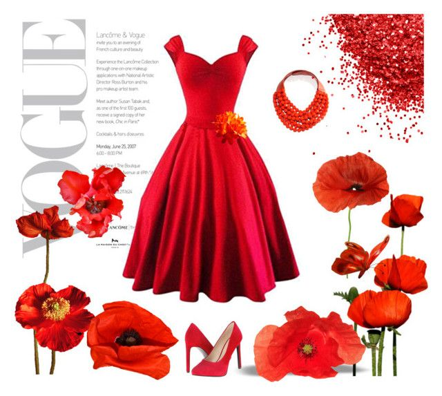 """""""Poppies"""" by s-igma ❤ liked on Polyvore featuring Nine West and Fairchild Baldwin"""