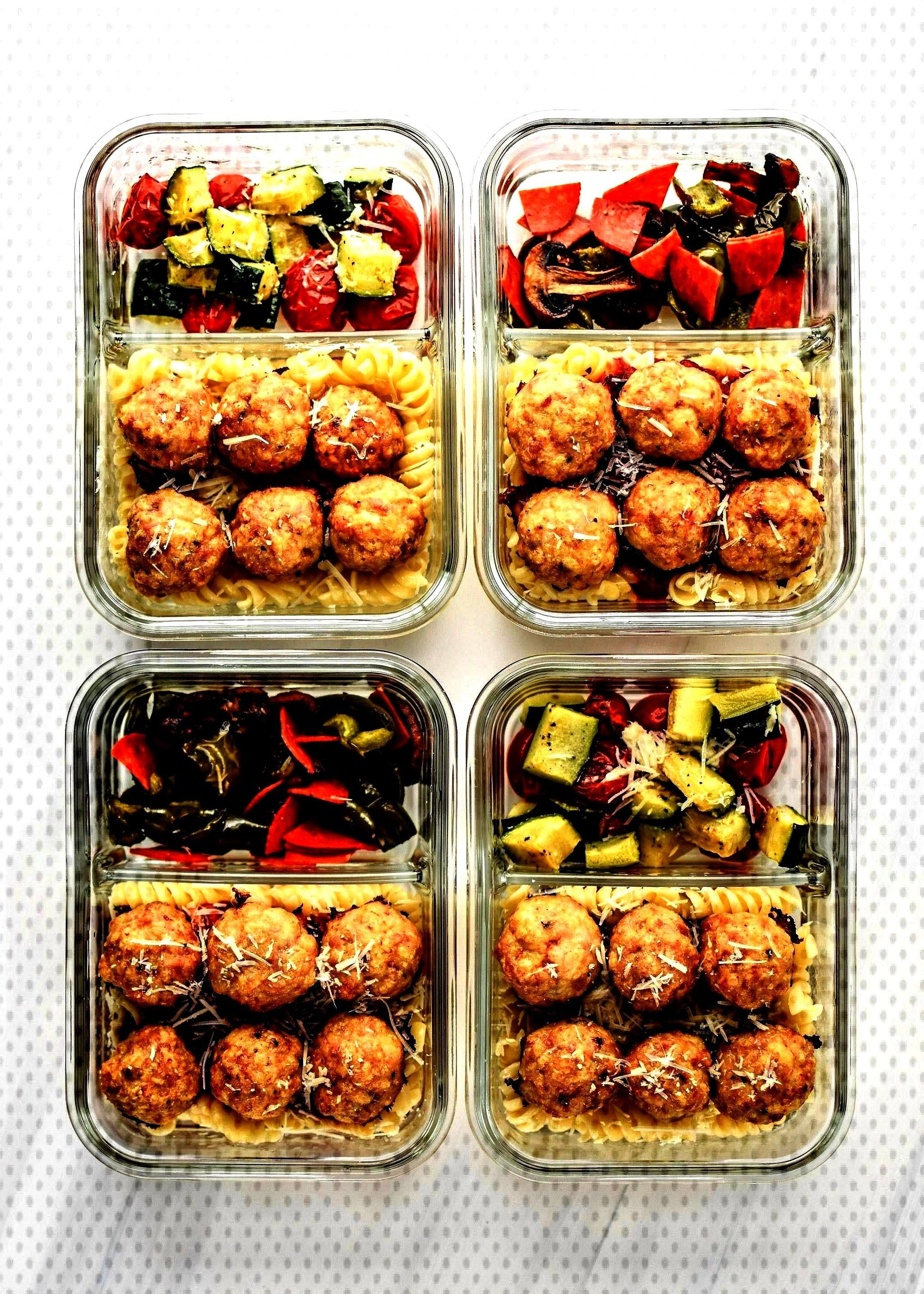 Meal Prep Lunches -Chicken Meatballs Two Ways Meal Prep Lunches -Meatballs Two Ways Meal Prep Lunch