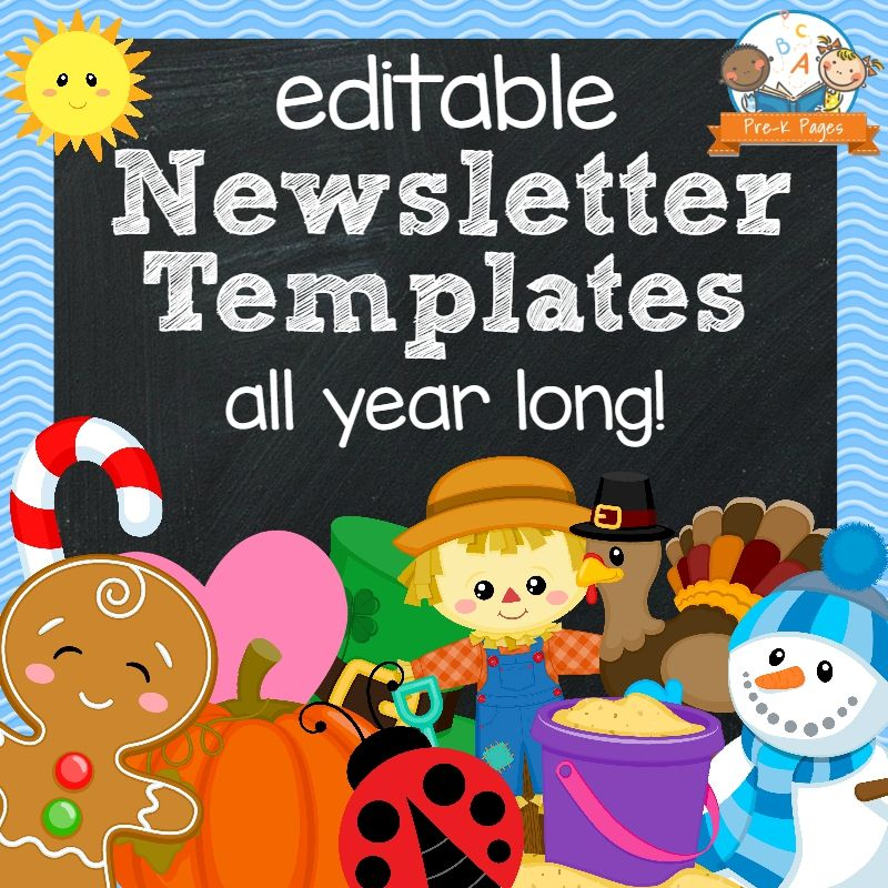 Classroom Newsletters Newsletter templates, Kindergarten and - school newsletter templates