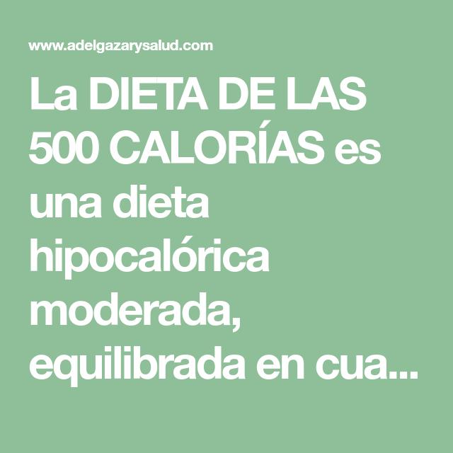 Que es una dieta hipocalorica moderada