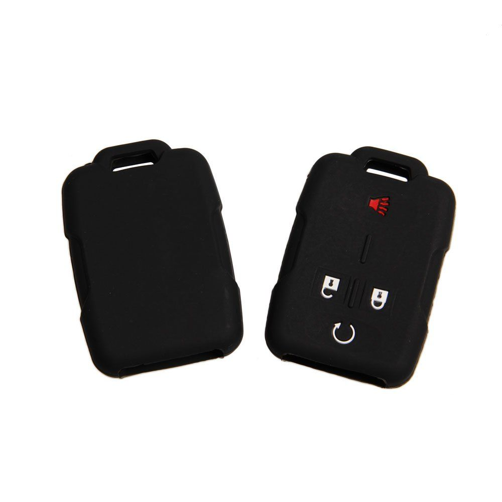 Fontic Set Of 2 Black Rubber Silicone Smart Key Fob Remote Cover