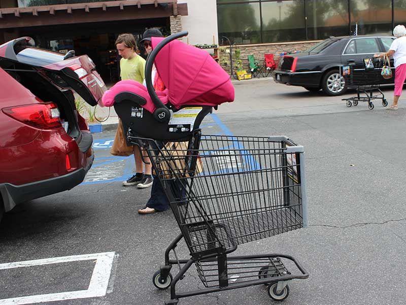 Carseat On Shopping Cart Jpg 800 600 Car Seats Shopping Cart Shopping
