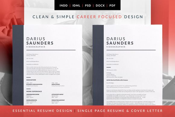 Essential Resume  Darius  More Resume Cv And Cover Letter