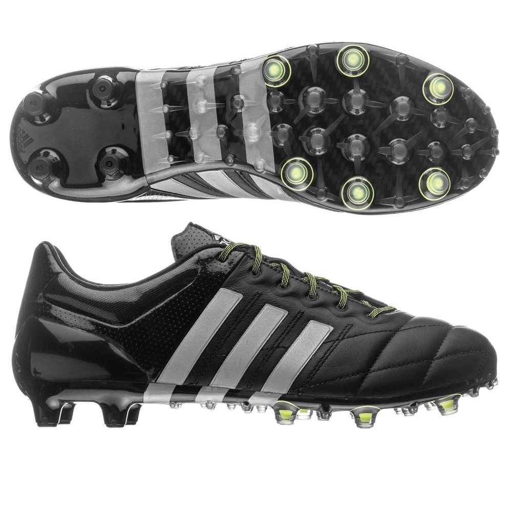 Adidas Ace 15.1 Leather FG/AG (Black/Neon Green)