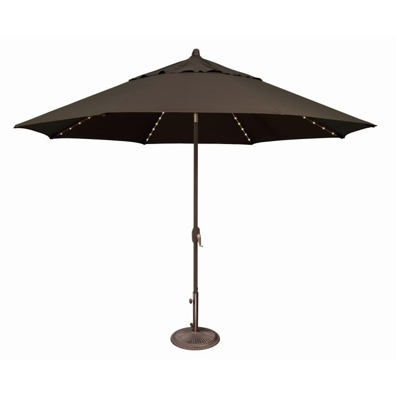 Simplyshade Ssum81sl 1100 A Lanai Pro 11 Foot Wide Open Sunbrella Market Umbrell Black Outdoor Living Umbrellas Table Insert In 2020 Market Umbrella Patio Patio Umbrellas