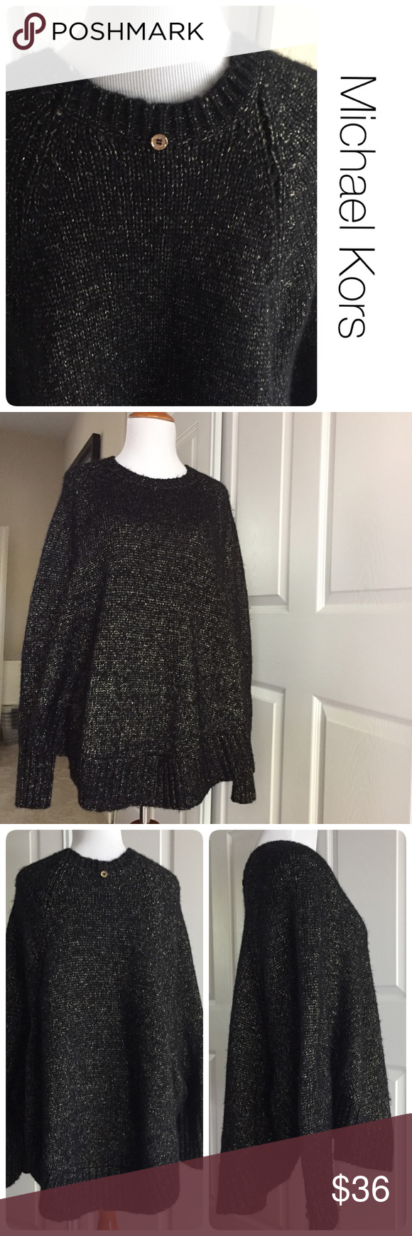 🎄Michael Kors holiday hi-lo sweater M | Stains, Holiday sweaters ...