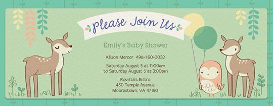Woodland Baby Shower Invitation On