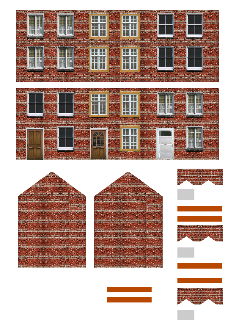 picture about Printable Buildings named Free of charge Printable Ho Scale Constructions Designs LZK Gallery HO