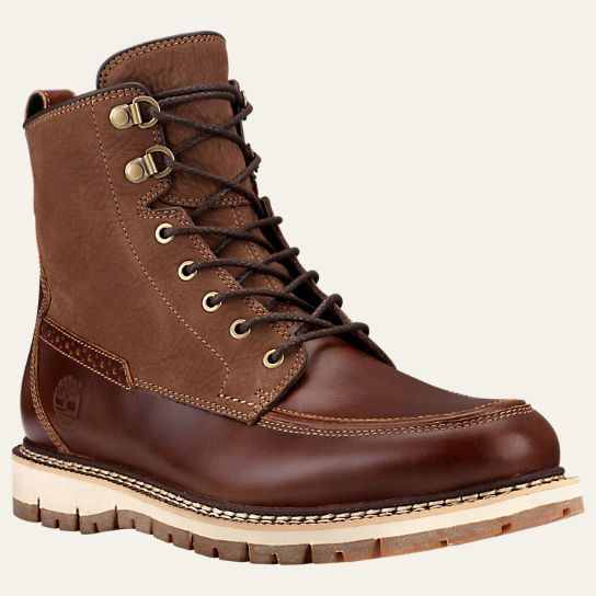 Men's Britton Hill Moc Toe Waterproof Boots | Timberland US Store. Men's  Leather ...