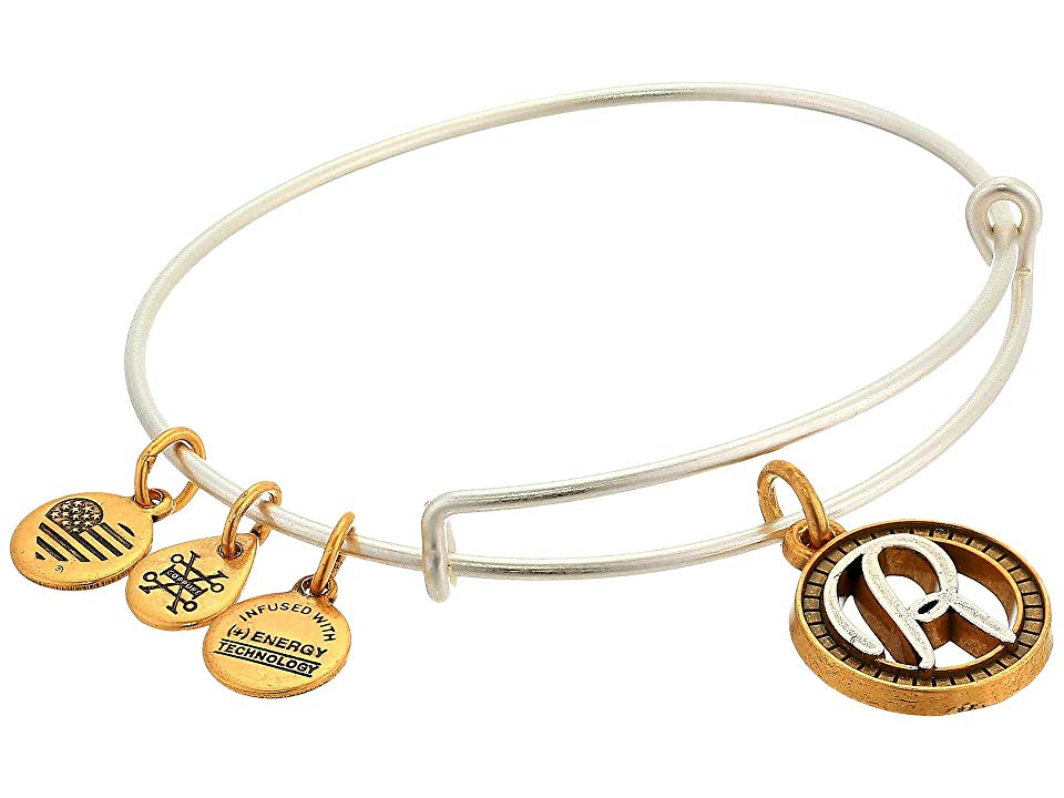 a754149af93 Alex and Ani Initial R Charm Bangle (Two-Tone) Bracelet. Part of the ...