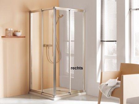 Dusche Eckeinstieg Schiebetüren Höhe 180 cm Duschkabine