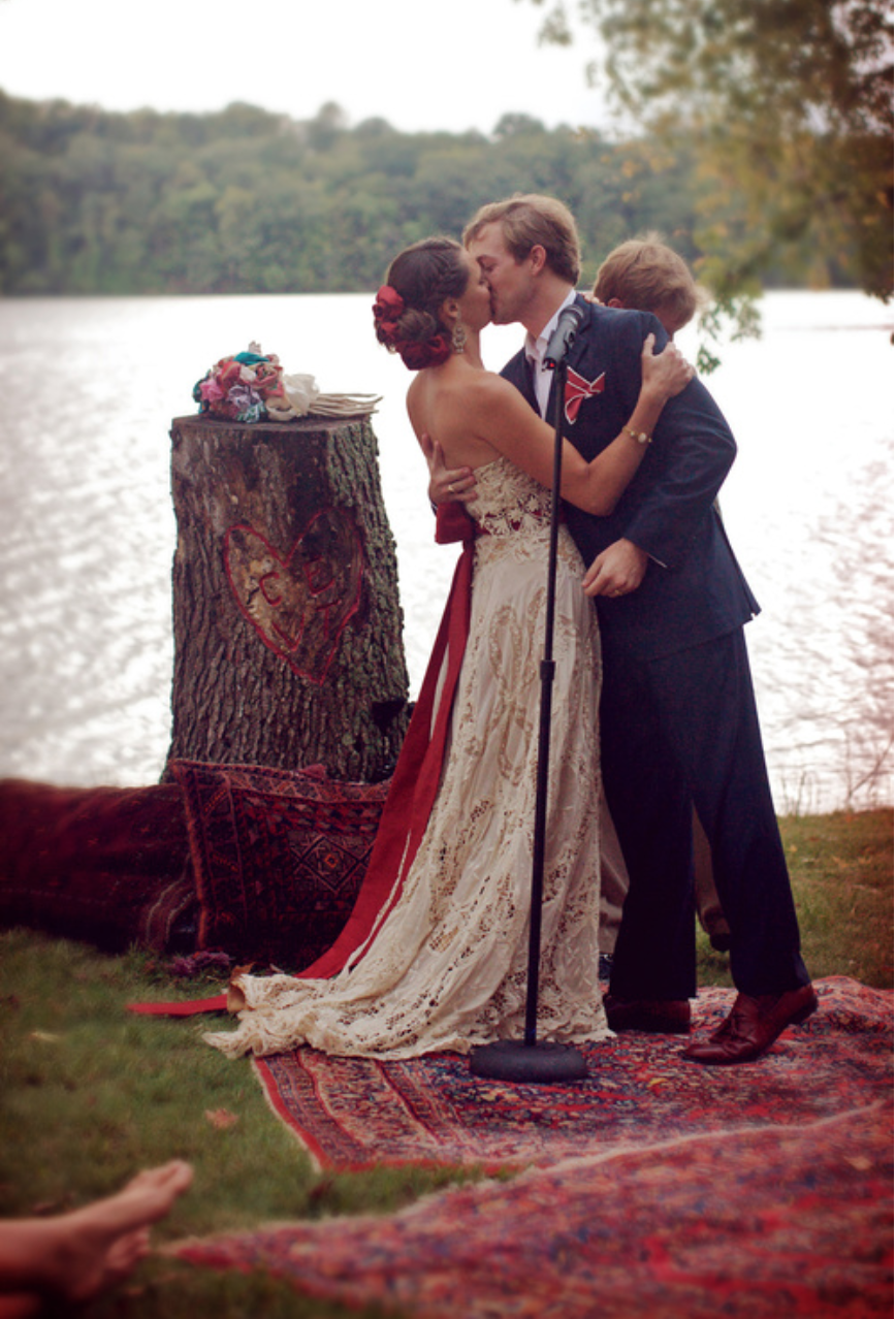 Stand on a rug in the ceremony then use it in your first home