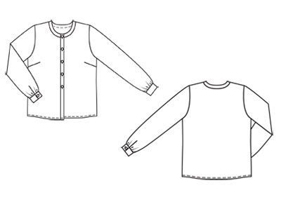 Блузка - выкройка № 118 из журнала 10/2011 Burda – выкройки блузок на Burdastyle.ru
