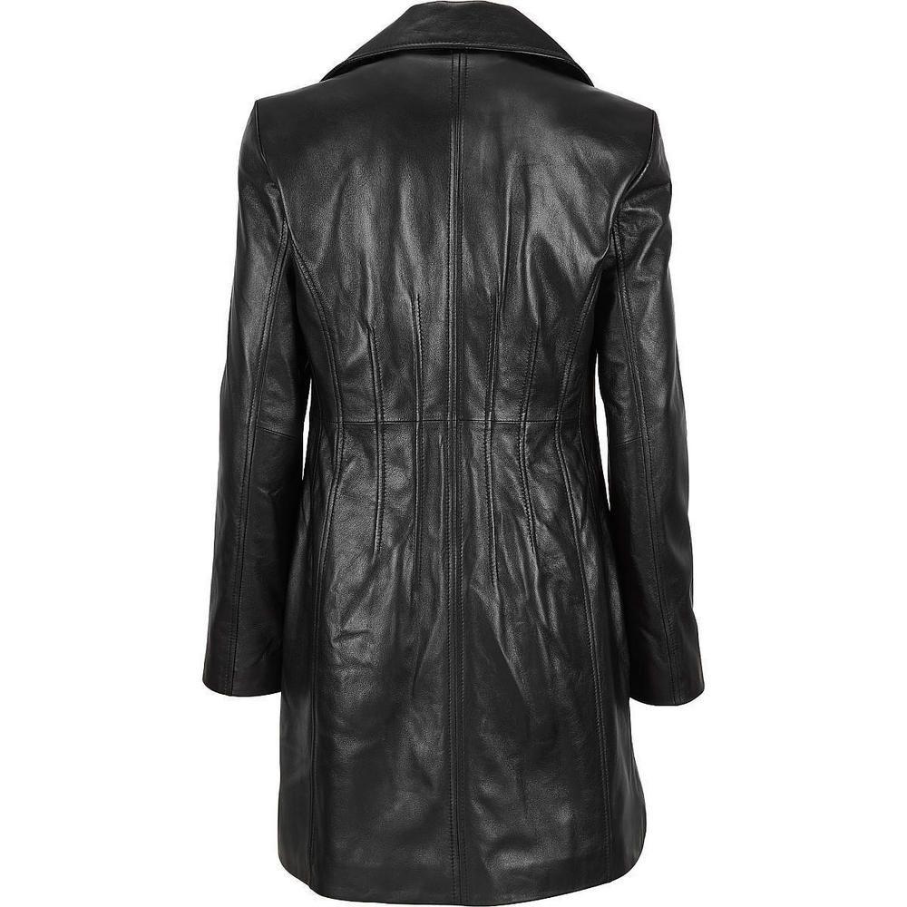 Wilson S 3 4 Length Women S Leather Coat Back View Leather Coat Womens Leather Coat Real Leather Jacket [ 1000 x 1000 Pixel ]