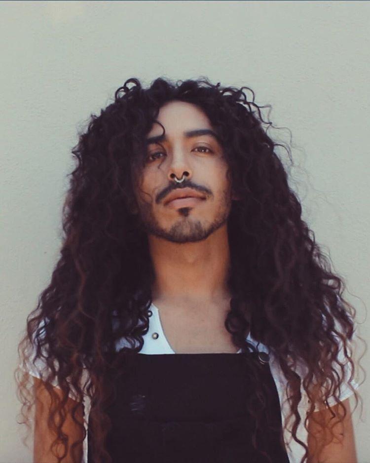 Men With Long Curly Hair Natural Hair Men Curls Free The Curls Curls Power Natural Hair Men Long Hair Styles Men Long Curly Hair Men