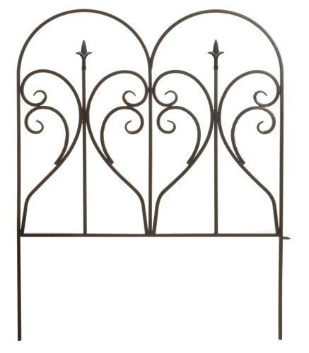 Panacea 87405 Scroll And Finial Border Fence, Black By Panacea. $26.09.  Measures 24