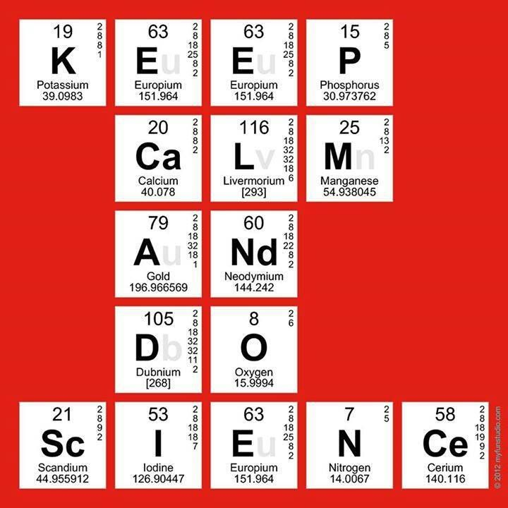 keep calm and do science periodic table elements - Periodic Table Element E