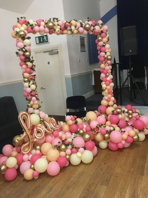 Balloon Arch For Baby Shower With Images Balloon Decorations