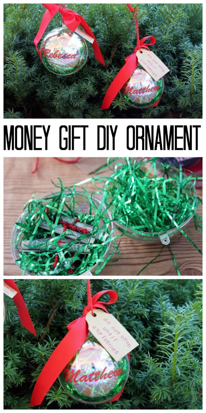 Money Gift DIY Ornament | + Easy Holiday Ideas | Pinterest ...