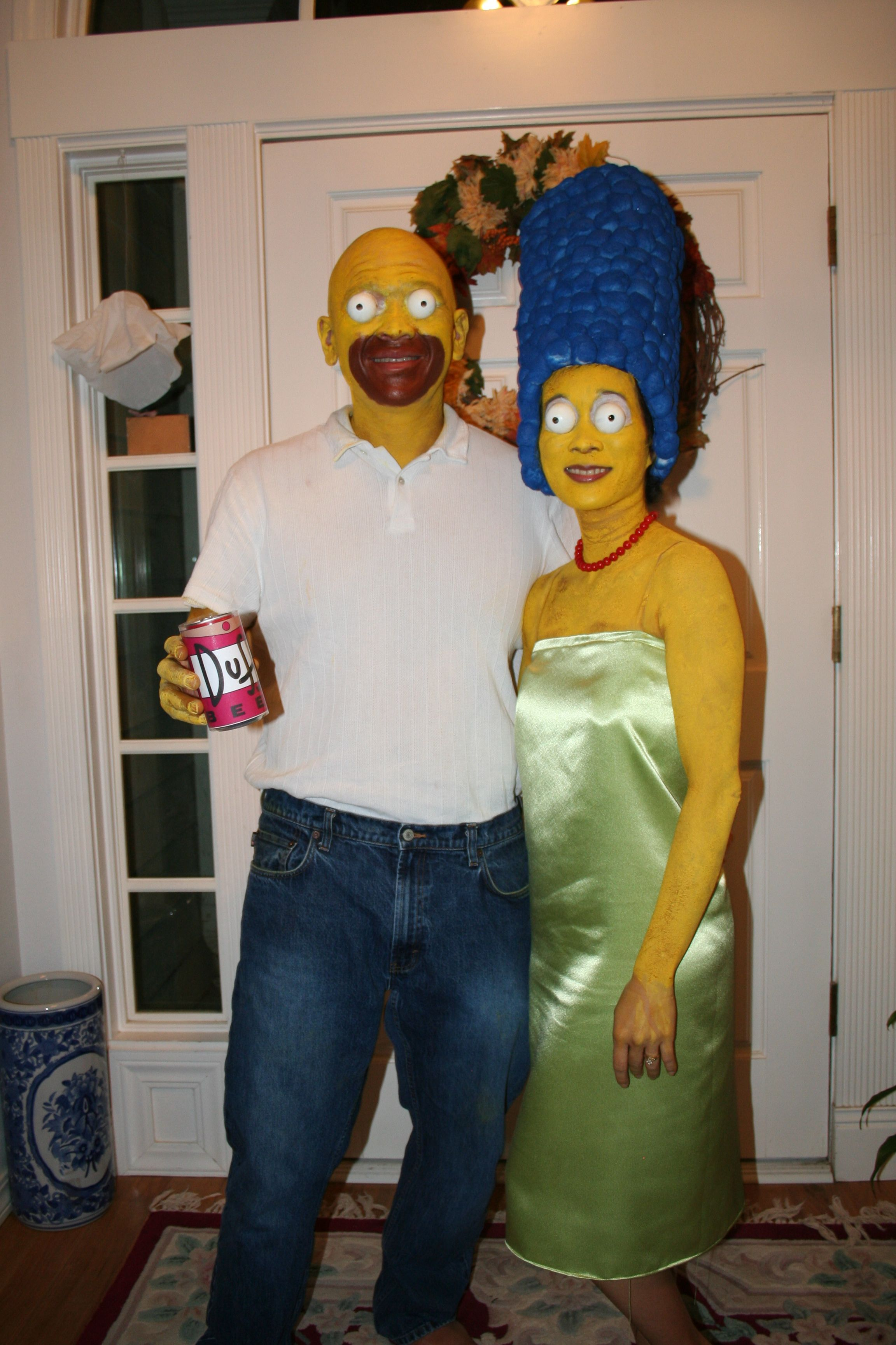 Marge and Homer Simpson#famous halloween couples costume  sc 1 st  Pinterest & Marge and Homer Simpson#famous halloween couples costume | Christmas ...