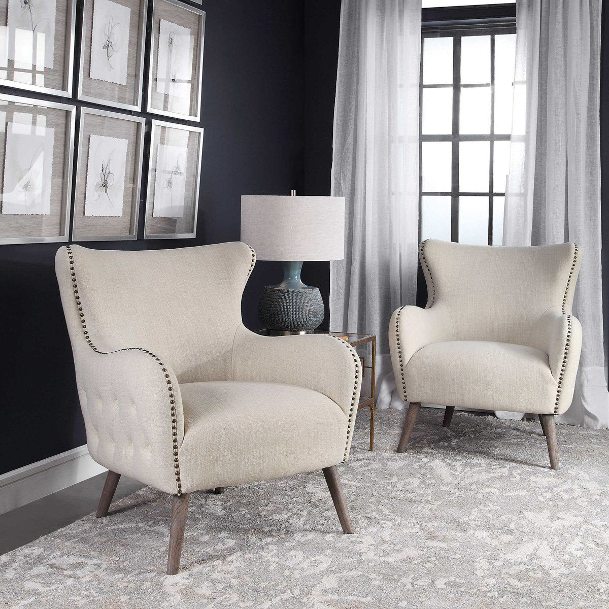 Tufted Cream Arm Chair Accent Chairs For Living Room Arm Chairs Living Room Wingback Chair Living Room