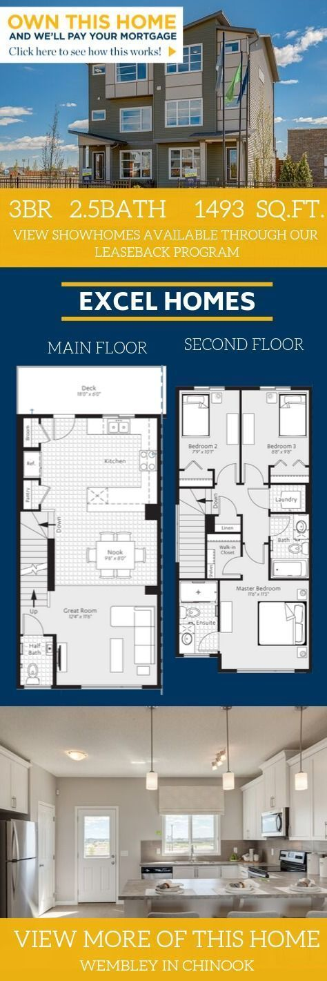 Large Home Floorplan Wembley In Chinook Gate Home Design By Excel Homes In 2020 Floor Plans House Floor Plans House Design