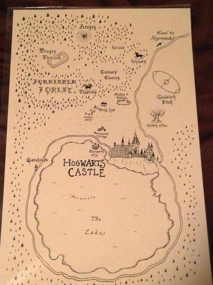 Marauders' Map Instructions from Britta Blvd |Marauders Map Drawing