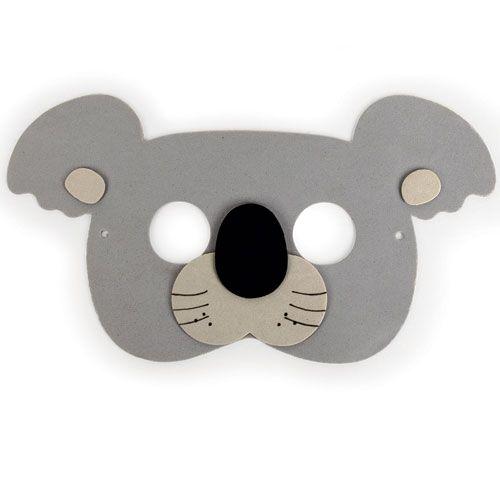 Masques de f te jungle set de 5 lion panda singe tigre - Patron masque de nuit ...