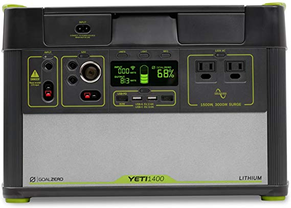 Amazon Com Goal Zero Yeti 1400 Lithium Portable Power Station Wifi Mobile App Enabled 1425wh Silent Gas Free Gene In 2020 With Images Power Station Portable Power Power Generator