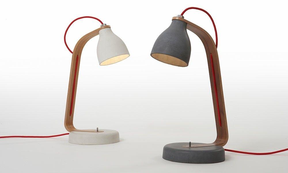 Tischlampe Beton - betoniu - beton lampe - wohnzimmer - beleuchtung ...