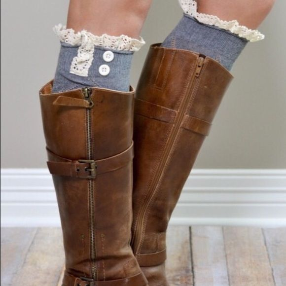 1 Pairs of Sexy Knee High Boot Socks with Lace Simplicity, sophistication, and style are combined with these Knee High Boot Socks! Made from soft, breathable materials, these socks are a must have to your wardrobe (Available in Black, Dark Gray, Light Gray, Cream and Tiffany Blue (Aqua). Give your ordinary outfit some wow factor with a pair of these socks! Please leave me a comment with the color you would like. PINK Victoria's Secret Accessories Hosiery & Socks