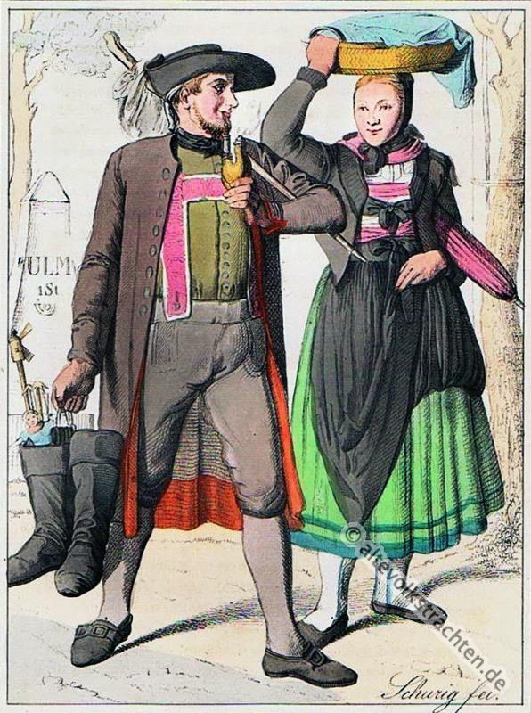 Schw Bische Tracht Aus Der Umgebung Von Neu Ulm German Folk Costume Pinterest German Folk
