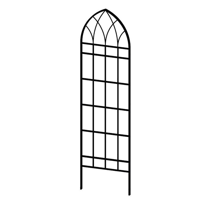 shop garden treasures 21.9-in w x 80.9-in h black gothic garden