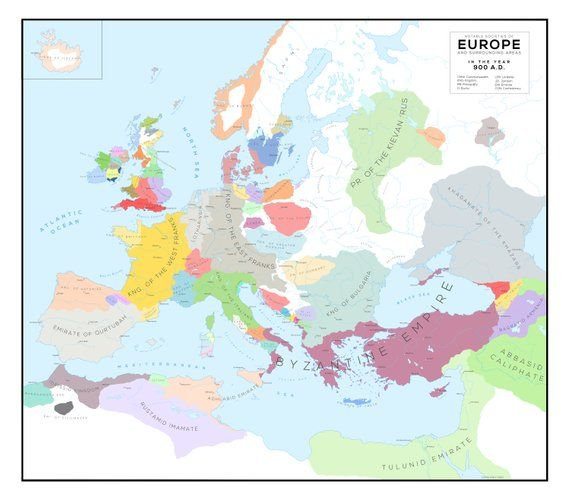 Cartina Europa 900.Map Of Europe In 900 Historical Maps European History Map