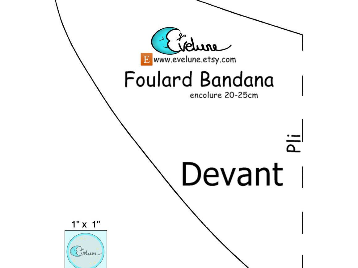 patron foulard bandana bavoir bandana foulard enfant bavoir b b pdf fran ais 3. Black Bedroom Furniture Sets. Home Design Ideas
