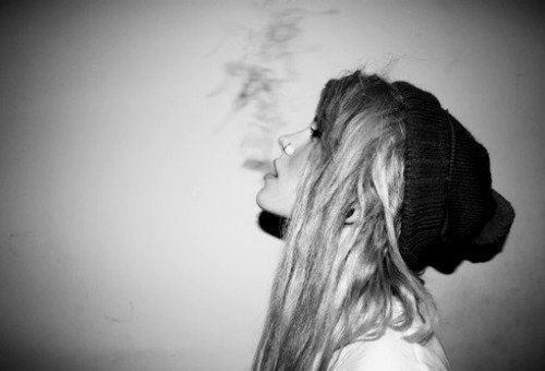 Smoking girl, rebellion