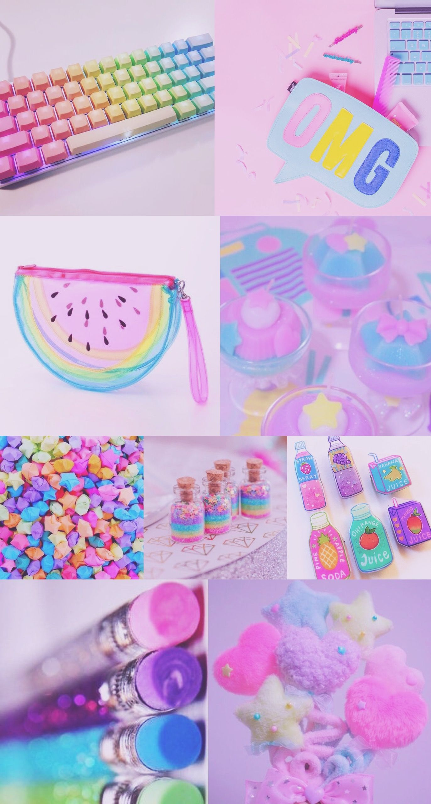 Aesthetic Wallpaper Rainbow Pastel
